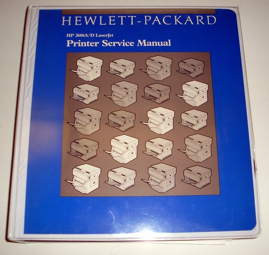 Picture of: hp 2686a /d laserjet service manual 02686-90920  and tech talk, comments, help & reviews.