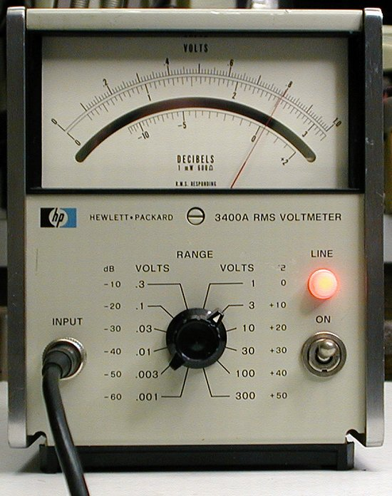 Picture of: agilent / hp 3400a voltmeter true rms analog 10hz to 10mhz and tech talk, comments, help & reviews.