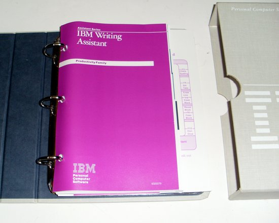 Picture of: vintage ibm software writing assistant 1.01 complete with disks, manuals  and tech talk, comments, help & reviews.