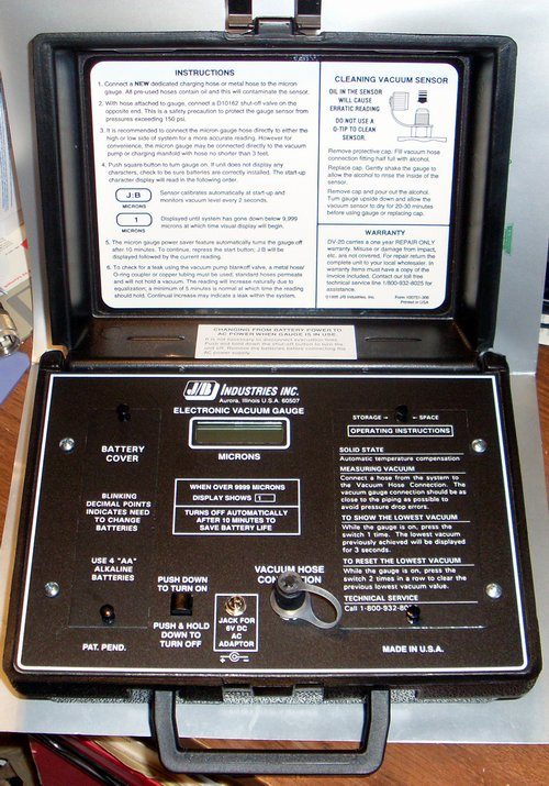 Picture of: jb industries, inc. electronic  vacuum gauge dv-20 hvac and tech talk, comments, help & reviews.
