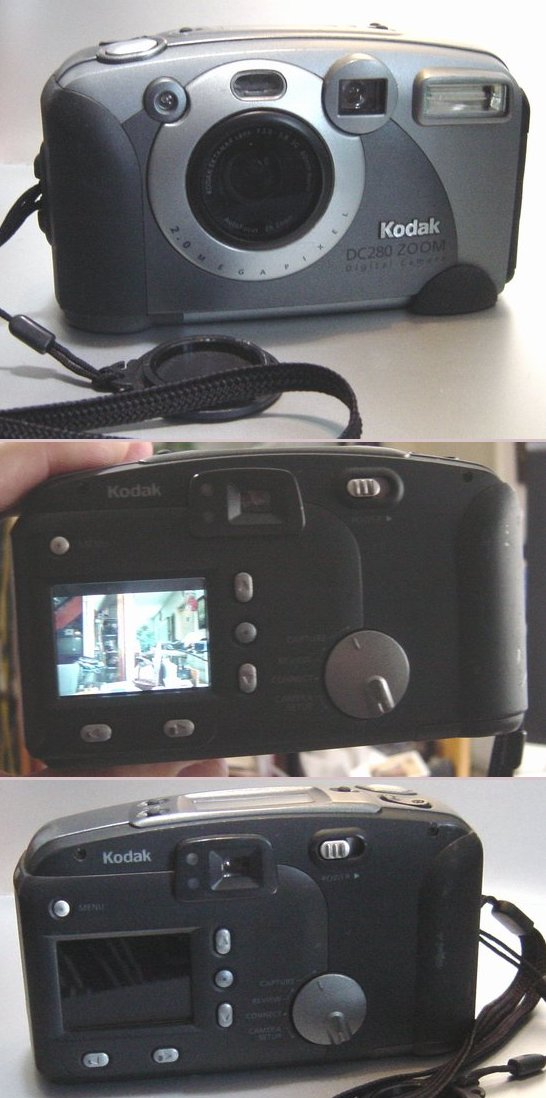 Picture of: kodak dc280 zoom 2.0 megapixel digital camera and tech talk, comments, help & reviews.