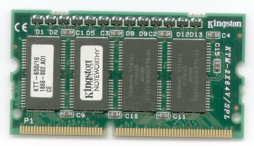 Picture of: toshiba notebook memory module ktt-650/16  16mb laptop and tech talk, comments, help & reviews.