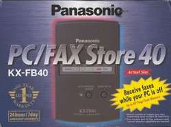 Picture of: pc fax store panasonic kx-fb40 fax buffer device and tech talk, comments, help & reviews.