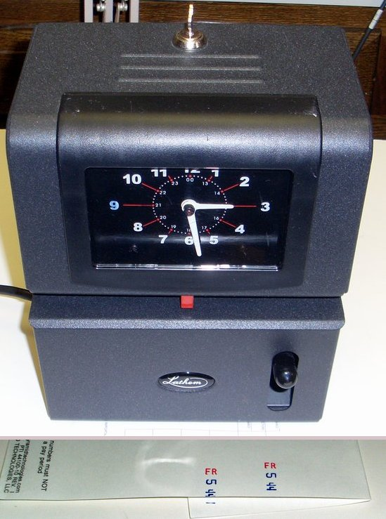 Picture of: lathem time-clock  2121 manual heavy duty timeclock and tech talk, comments, help & reviews.