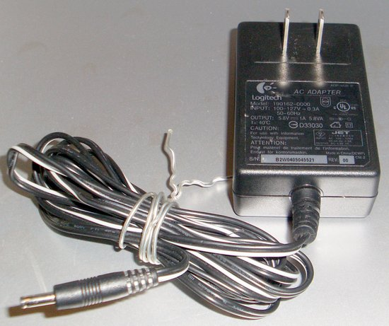 Picture of: logitech 190162-0000 ac dc adapter 5.8v 1a adp-6gb b mx duo and tech talk, comments, help & reviews.