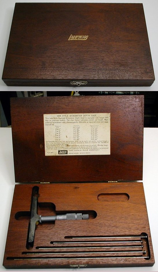 Picture of: old used machinist tools fine lufkin depth gage set  and tech talk, comments, help & reviews.