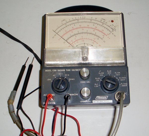 Picture of: mercury 1700 vtvm vacuum tube multitester multimeter  and tech talk, comments, help & reviews.