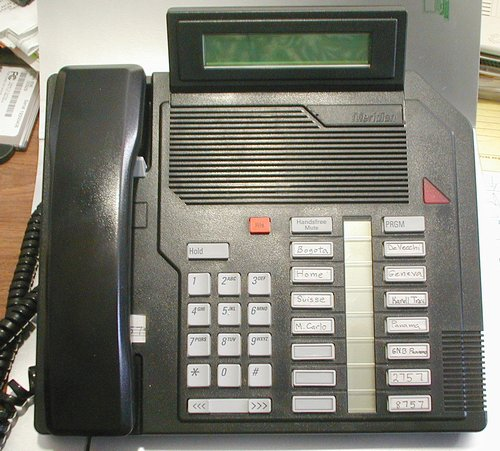 Picture of: nortel meridian m2616 telephone w/display (black) and tech talk, comments, help & reviews.