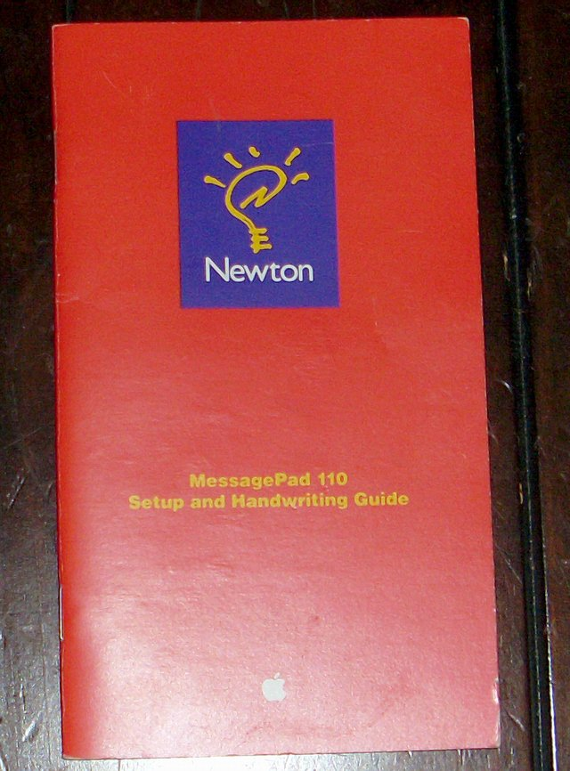Picture of: apple newton messagepad 110 setup and handwriting guide and tech talk, comments, help & reviews.
