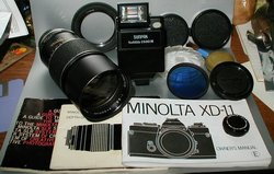 Picture of: hanimex telephoto, sunpack flash, hoya filter, minolta accessories and tech talk, comments, help & reviews.