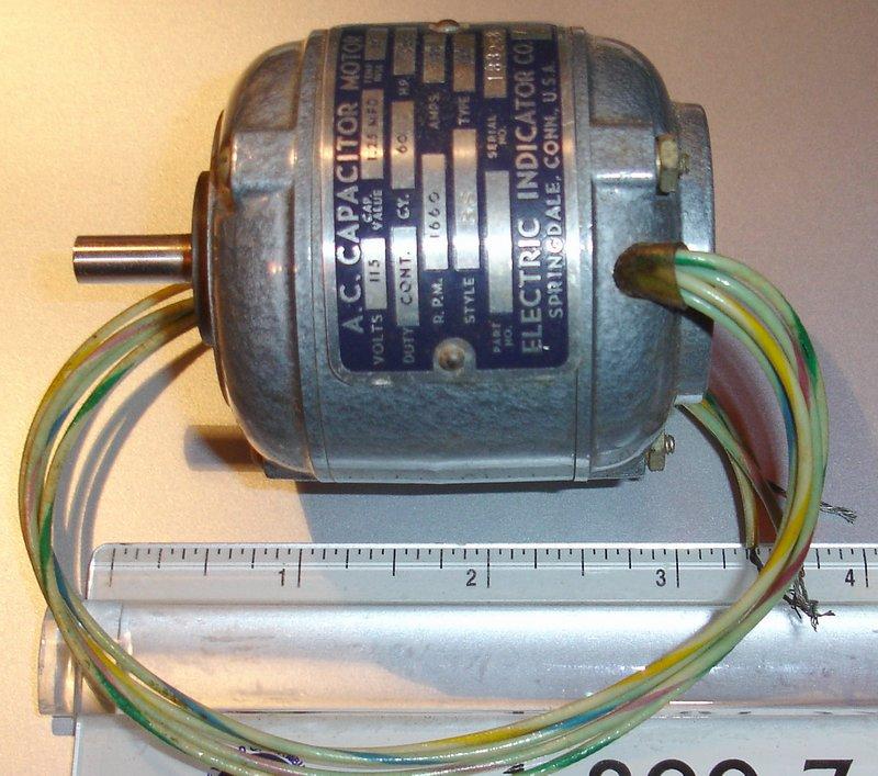 Rare Mini Ac Capacitor Motor 1660 Rpm 115 Vac 1 500 Hp