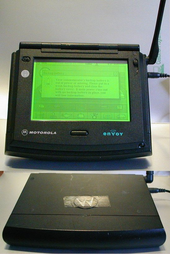 Picture of: vintage motorola envoy touch screen wireless communicator and tech talk, comments, help & reviews.
