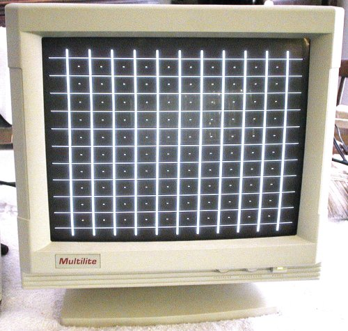 Picture of: monochrome vga monitor / display (paper white) and tech talk, comments, help & reviews.