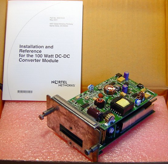 Picture of: nortel networks al1904001 -48 v dc-to-dc converter, for installation in the business policy switch 2000, for use with the baystack 10 power supply unit.  and tech talk, comments, help & reviews.