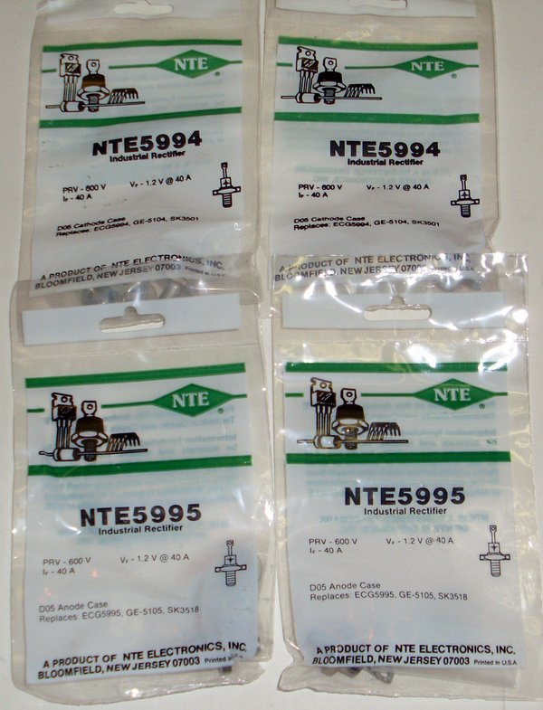 Picture of: nte 5994 5995 r-600 prv, 40 amp cath case, anode case and tech talk, comments, help & reviews.