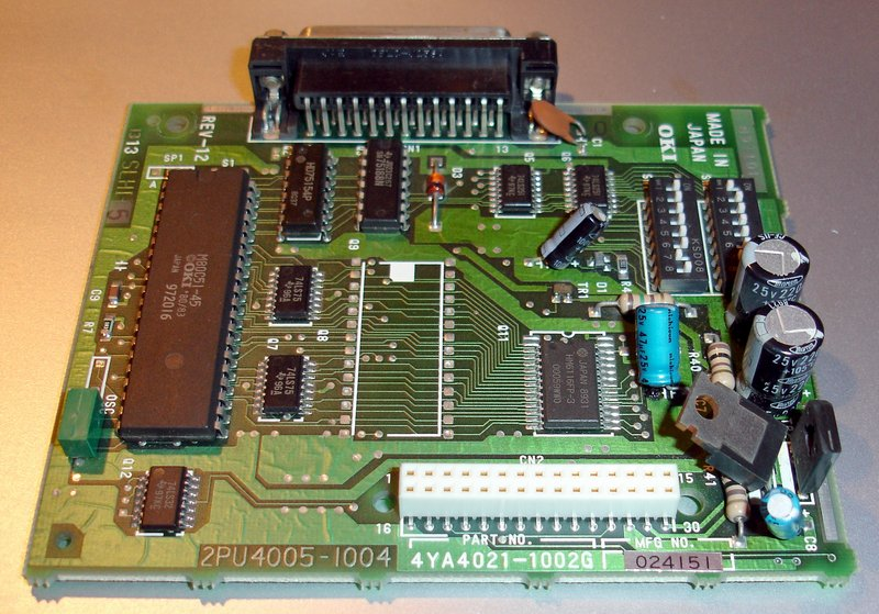 Picture of: serial interface card okidata 182, 182t, 184, 186 and the 184 turbo printers 2pu 4005 1004 p# 4ya4021-1002g  and tech talk, comments, help & reviews.