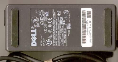 Picture of: dell laptop ac adapter pa-2 20v 3.5a 70w/ power supply dell pa2 85391 and tech talk, comments, help & reviews.