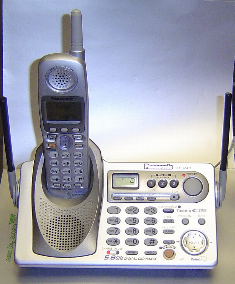 Picture of: panasonic kx-tg5471 5.8ghz single line cordless phone and tech talk, comments, help & reviews.
