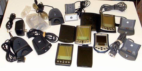 Picture of: pda lot palm m500,m130,vx,sony pega-uc500,visor,cradle and tech talk, comments, help & reviews.