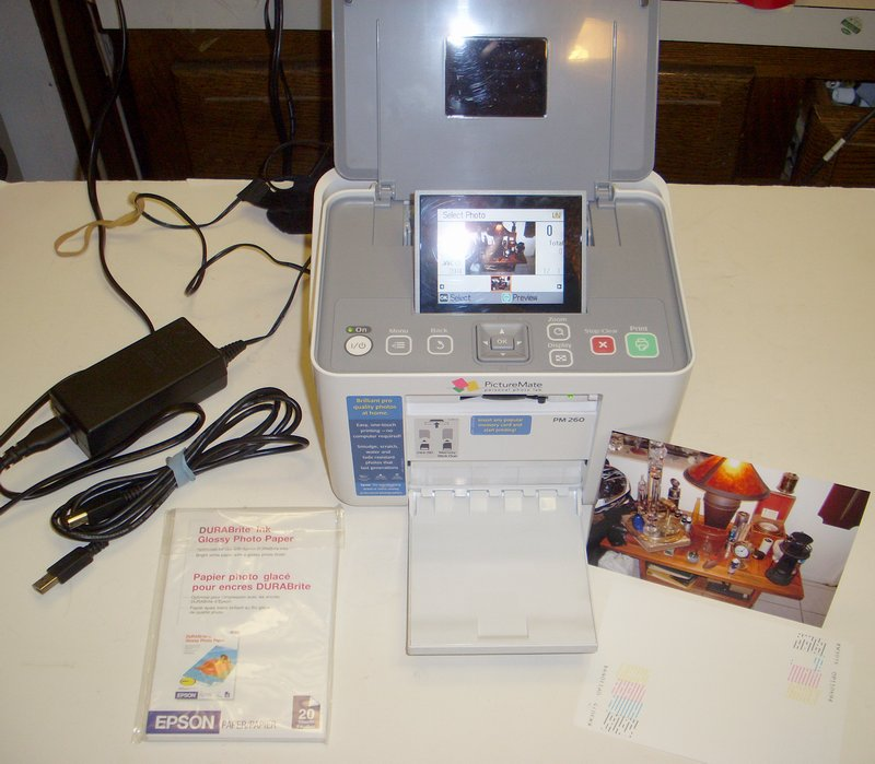 Picture of: epson picturemate model pm260 photo printer pm 260 and tech talk, comments, help & reviews.