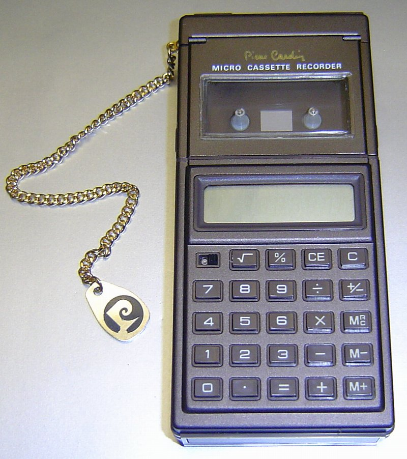 Picture of: vintage pierre cardin micro cassette recorder calculator and tech talk, comments, help & reviews.