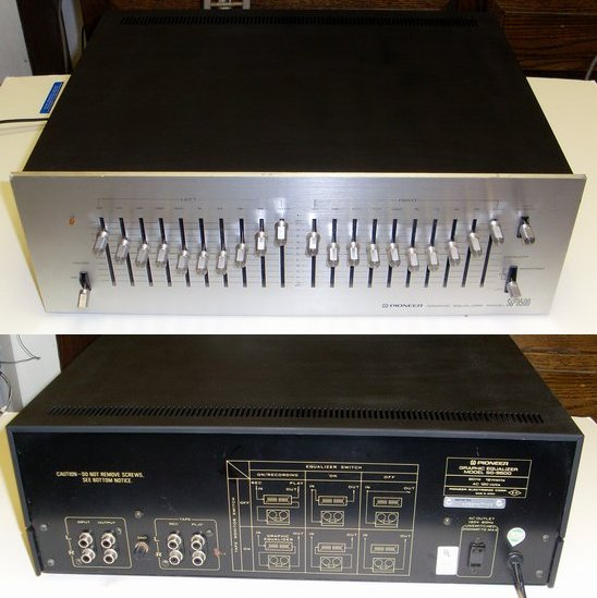 Picture of: vintage silver face pioneer sg-9500 10 band equalizer and tech talk, comments, help & reviews.