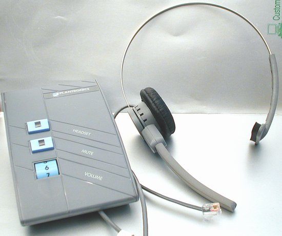 Picture of: plantronics plx-500 amplifier & headset plx500 and tech talk, comments, help & reviews.