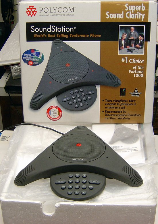 Picture of: polycom soundstation phone conference system teleconference and tech talk, comments, help & reviews.