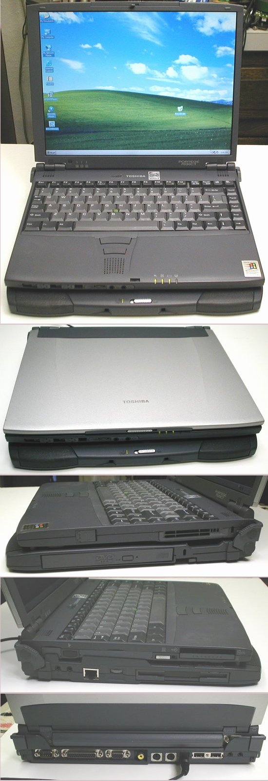Picture of: toshiba portege laptop 7020ct 6gb 192mb dvd docking station 7020 and tech talk, comments, help & reviews.
