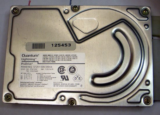 Picture of: quantum lightning prodrive 730s 700mb 3.5 scsi 50 pin hard disk drive and tech talk, comments, help & reviews.
