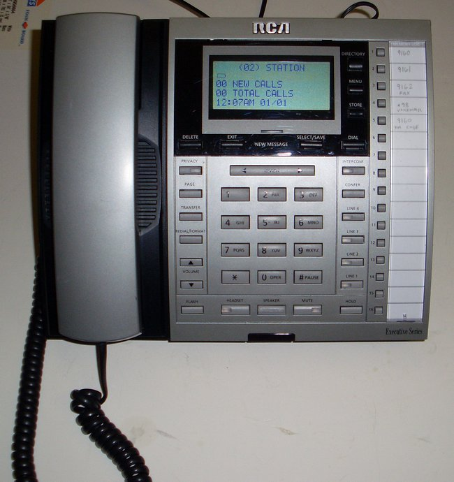 Picture of: rca 25414re3 4-line corded business phone speakerphone telephone and tech talk, comments, help & reviews.