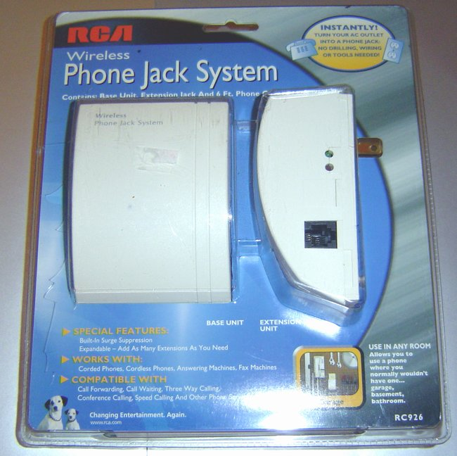 Picture of: rca wirless phone jack system new sealed turn any ac jack into a phone jack and tech talk, comments, help & reviews.