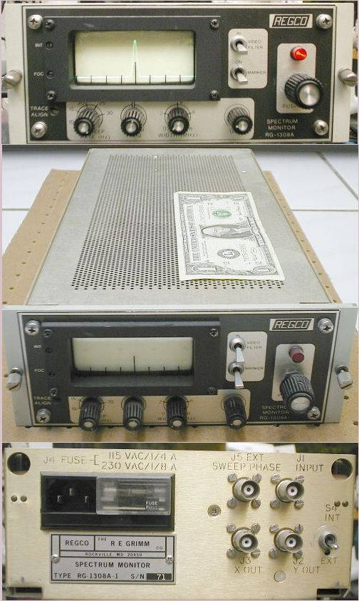 Picture of: rf spectrum monitor regco 1308-a / rg1308 - the re grimm co. and tech talk, comments, help & reviews.