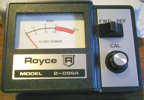 Picture of: rf swr meter royce 2-099a and tech talk, comments, help & reviews.