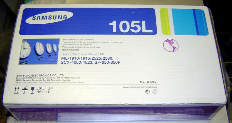 Picture of: genuine samsung brand 105l laser toner cartridge and tech talk, comments, help & reviews.