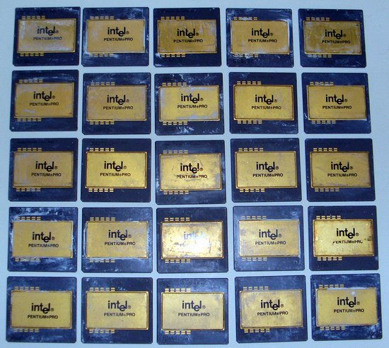 Picture of: lot25 pentium pro cpu processor gold scrap recovery 5lb  and tech talk, comments, help & reviews.