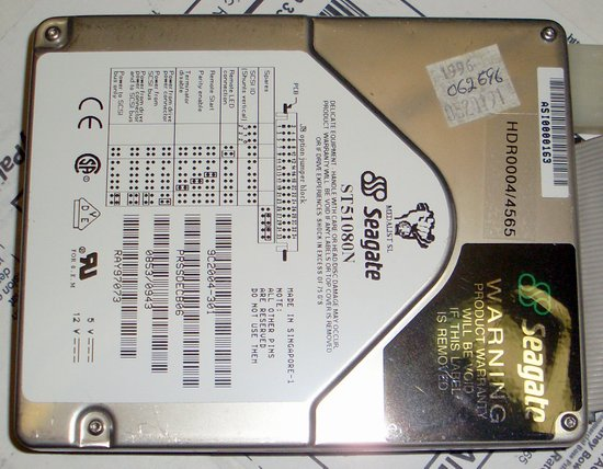 Picture of: seagate st51080n 1gb 7200rpm 50-pin scsi hard disk drive and tech talk, comments, help & reviews.