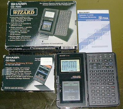 Picture of: sharp wizard oz-7000 + theasaurus dictionary ic card oz-702a and tech talk, comments, help & reviews.