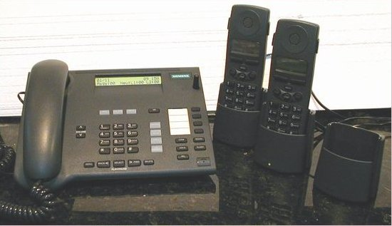 Picture of: siemens gigaset 2420 desk station business telephone 2-line and 2 handsets and tech talk, comments, help & reviews.