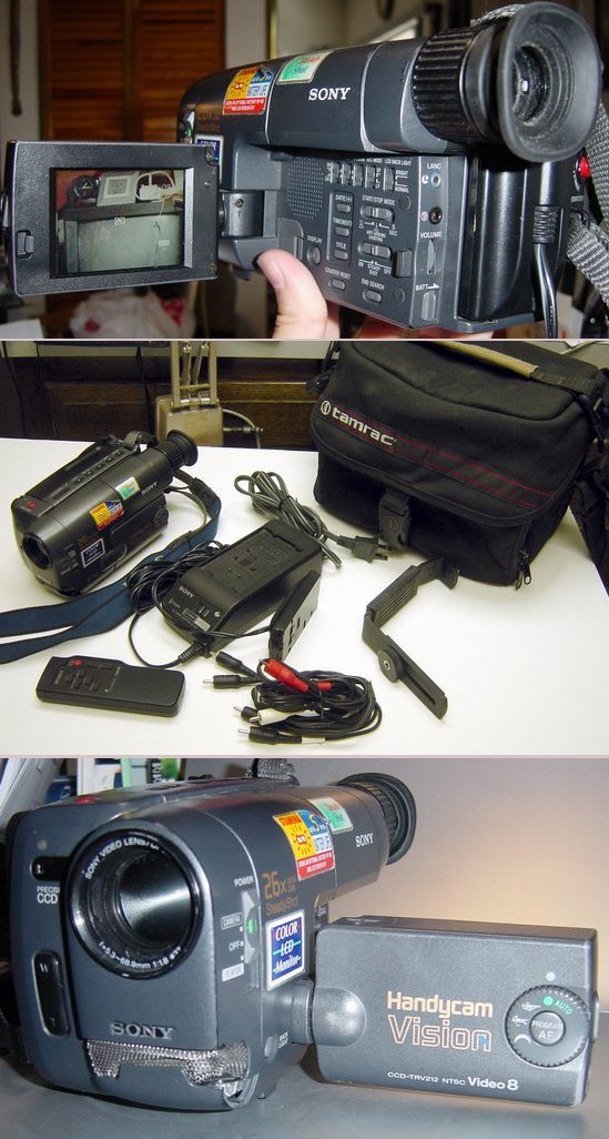 Picture of: sony handycam vision steadyshot ccd-trv212 8mm analog camcorder 8 mm and tech talk, comments, help & reviews.