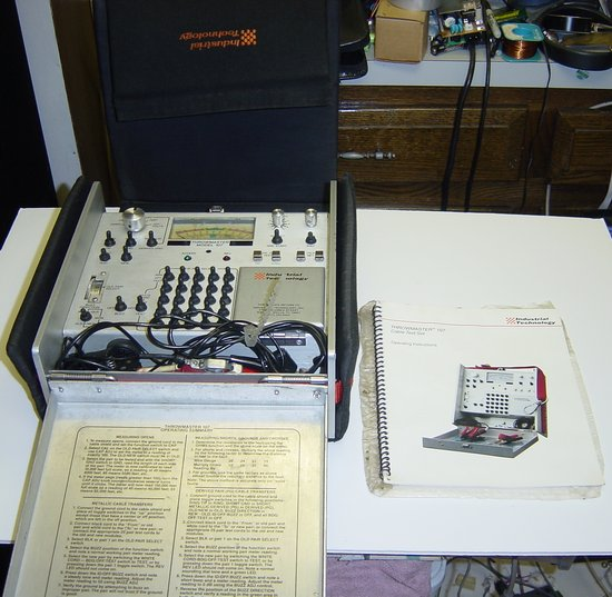Picture of: throwmaster 107 cable test set  and tech talk, comments, help & reviews.