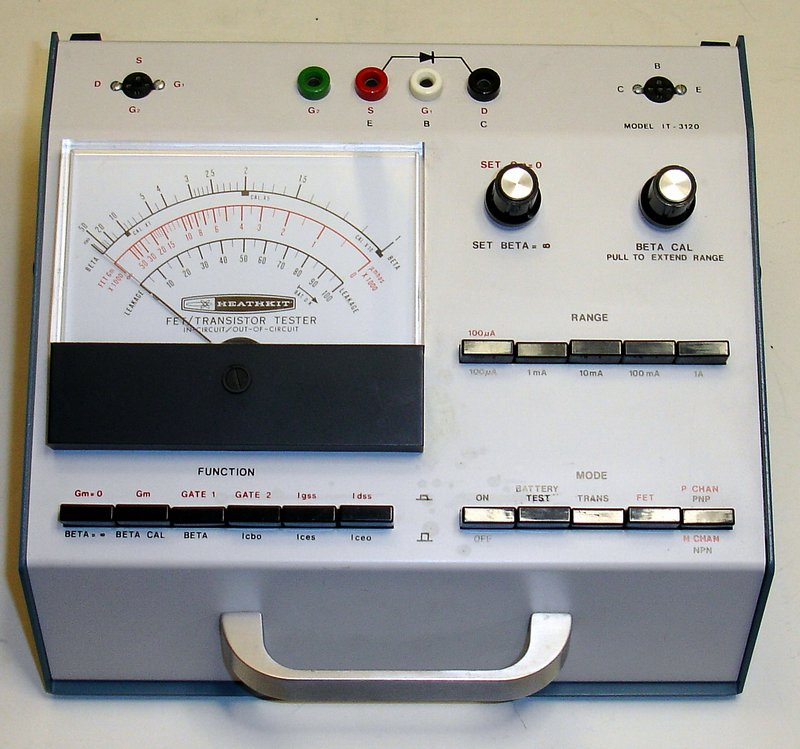 Picture of: it-3120 vintage heathkit transistor fet diode tester and tech talk, comments, help & reviews.