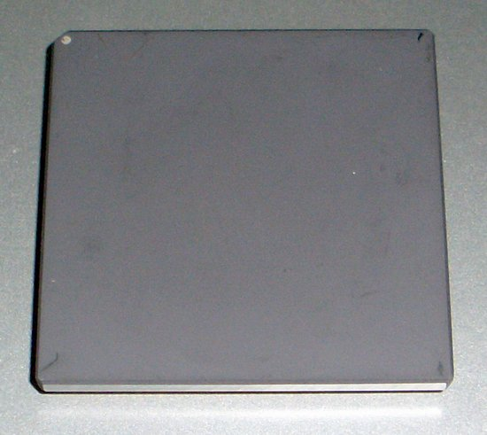 Picture of: unmarked intel cpu processor chip for collectors and tech talk, comments, help & reviews.