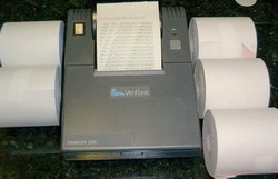 Picture of: verifone 250 credit card receipt printer + 5 rolls of paper and tech talk, comments, help & reviews.