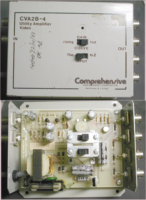 Picture of: video utility distribution amplifier cva2b-4 / 2 inputs 4 outputs and tech talk, comments, help & reviews.