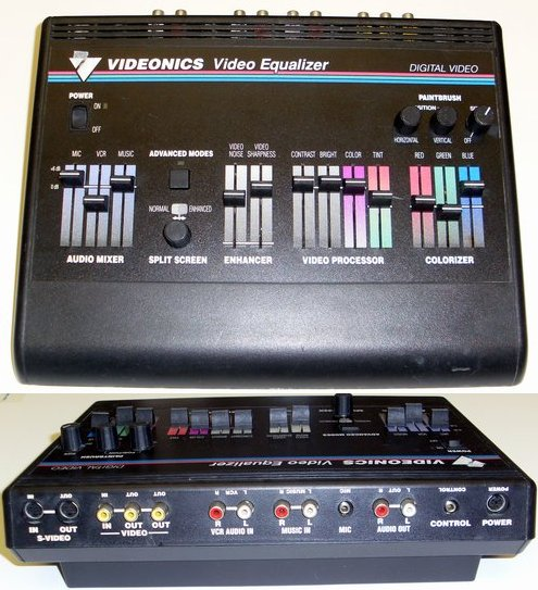 Picture of: videonics video equalizer processor & colorizer audio mixer and tech talk, comments, help & reviews.