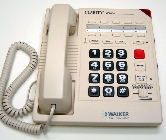 Picture of: walker clarity w1000 amplified telephone hearing impaired and tech talk, comments, help & reviews.