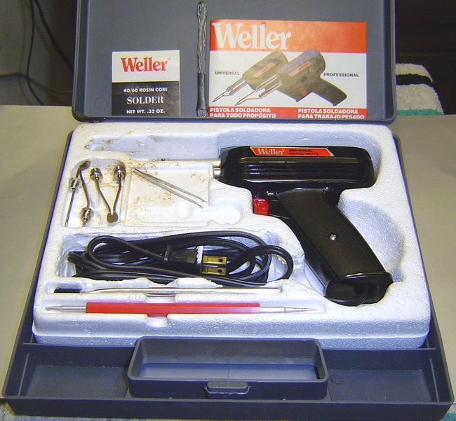Picture of: weller� 8200pk - 140/100 watts 120v universal soldering gun kit  and tech talk, comments, help & reviews.