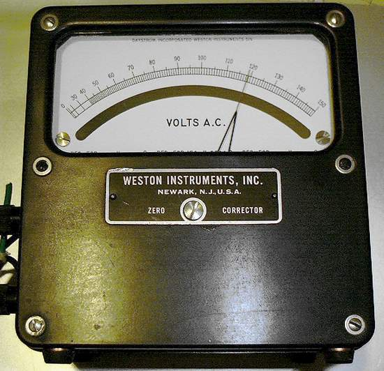 Picture of: ac voltmeter 0-150vac weston instruments and tech talk, comments, help & reviews.