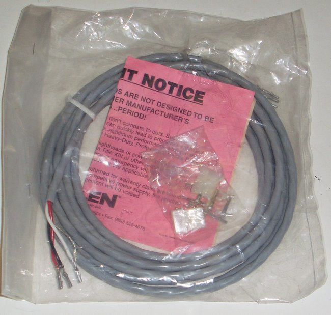 Picture of: whelen 15 foot 3-wire strobe cable w/ connectors new! and tech talk, comments, help & reviews.